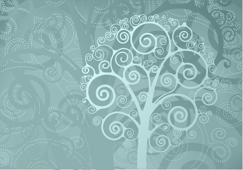 Download Swirl tree stock illustration. Image of stem, texture - 23174548