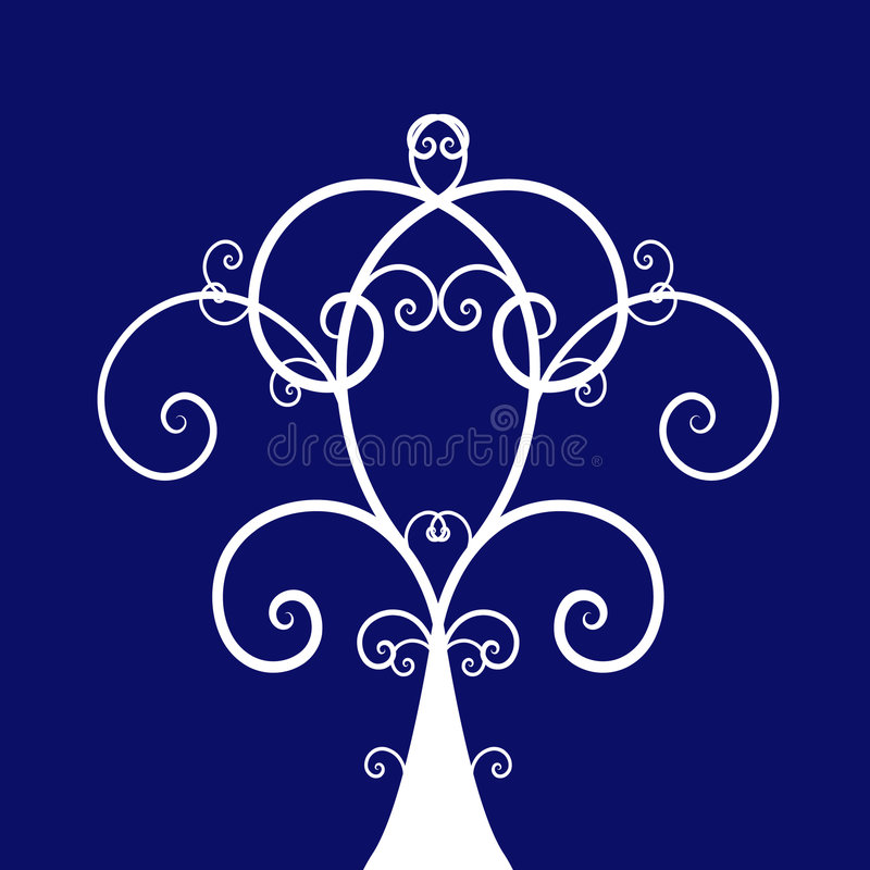 Download Swirl tree stock vector. Image of leaf, curl, color, drawing - 7416889