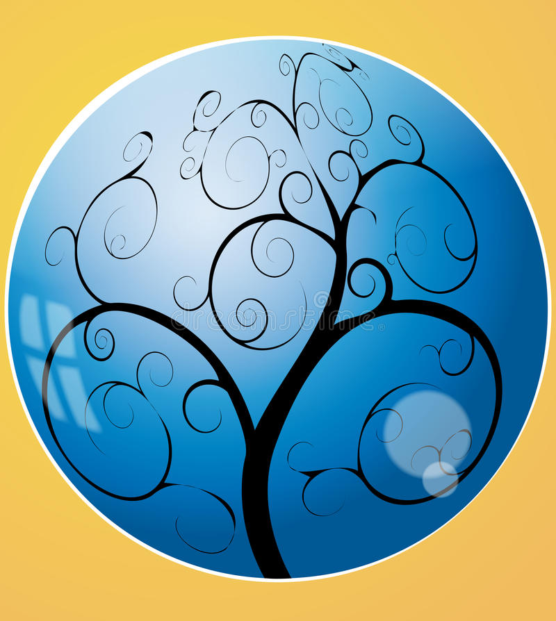 Download Swirl Tree In The Sphere Stock Images - Image: 20675794