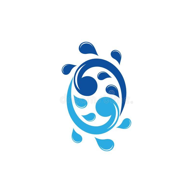 Swirl water splash symbol logo vector 向量例证