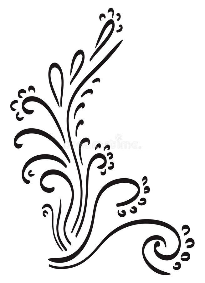 Swirlhörn, klotter stock illustrationer