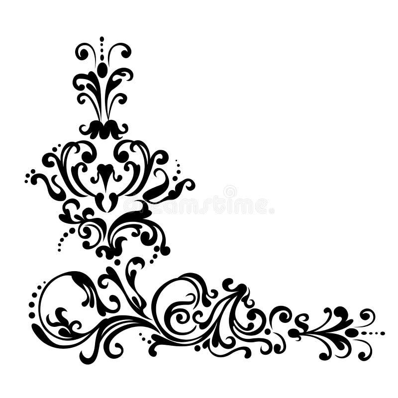 Swirling decorative floral elements ornament stock illustration