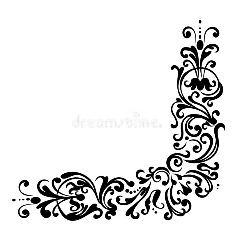 Swirling ornamental decorative floral pattern vector illustration