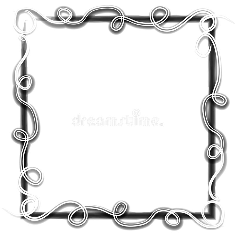 Swirling Photo Picture Frames royalty free illustration
