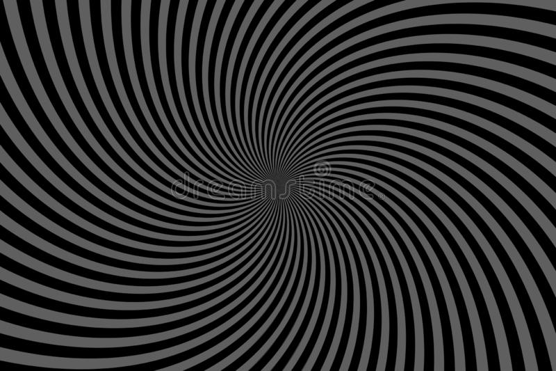 Swirling radial background. Vortex background. Helix background - illustration design. Wallpaper, black, concept, art, abstract, new, print, graphic, burst royalty free stock photography