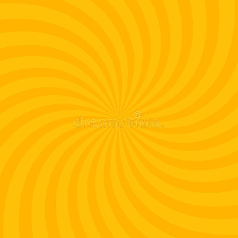 Free Swirling Radial Bright Yellow Pattern Background. Vector Illustration For Swirl Design. Vortex Starburst Spiral Twirl Square. Stock Photography - 141069852