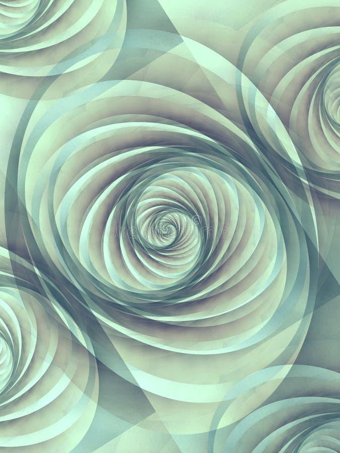 Swirling Sea Shells Pattern stock illustration