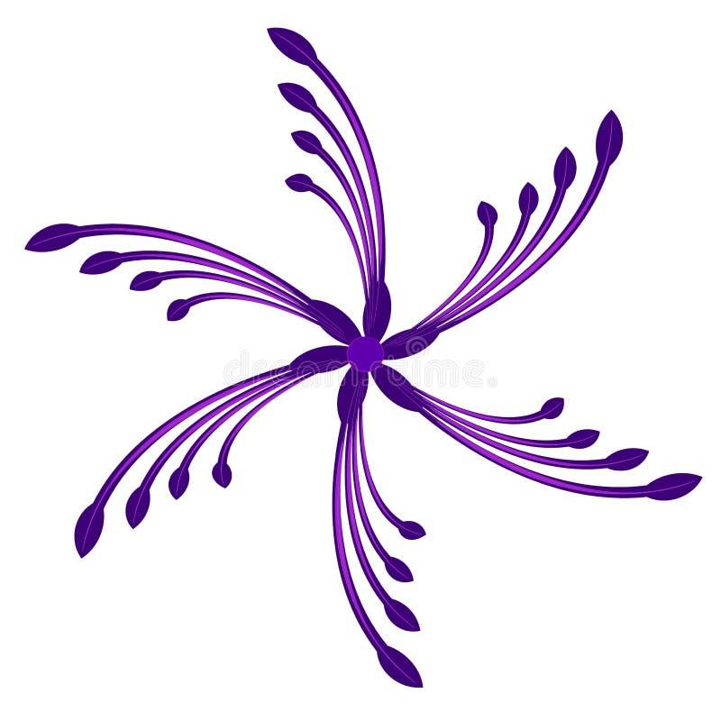 Swirling Spinning Purple Swirl royalty free illustration