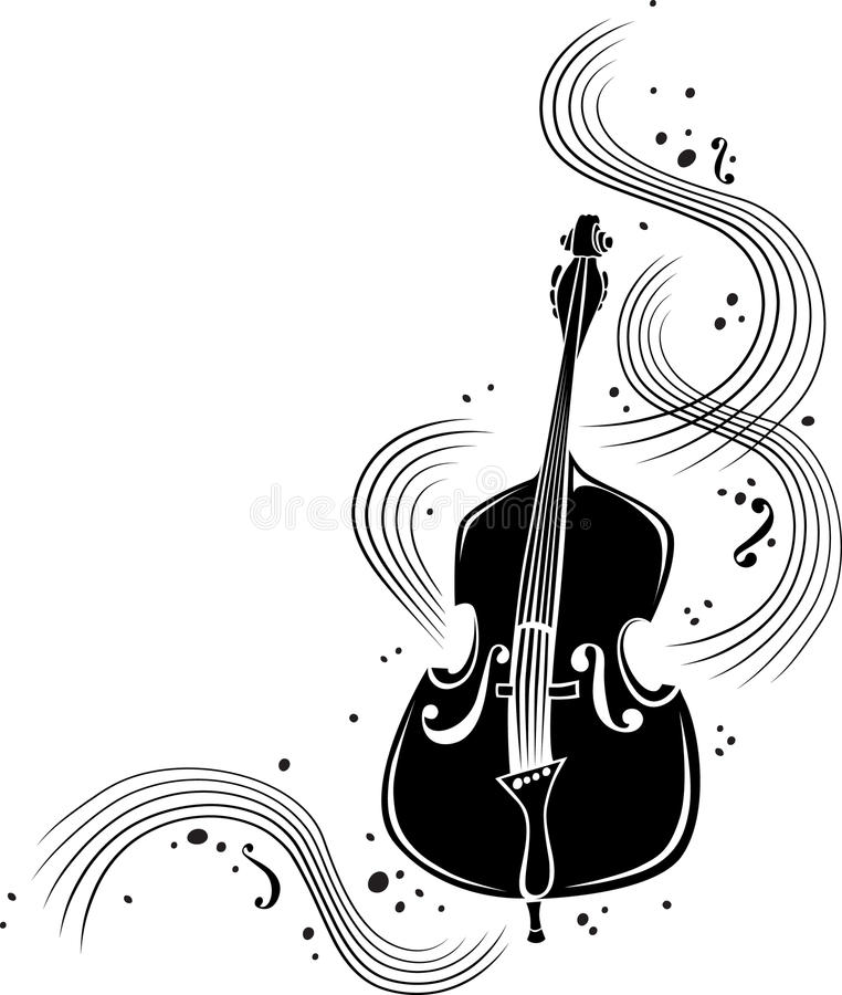 Swirling strings stock illustration