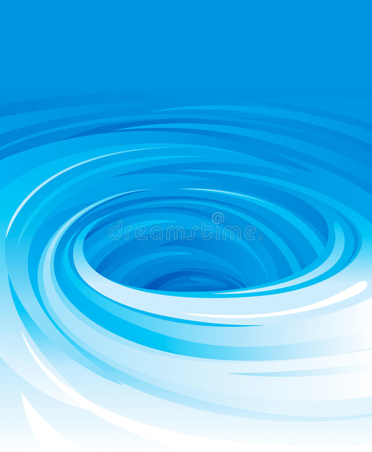 Swirling Water royalty free illustration