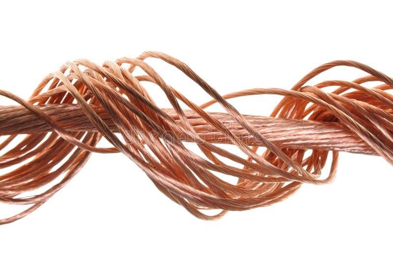 Swirlkoppartråd royaltyfria foton