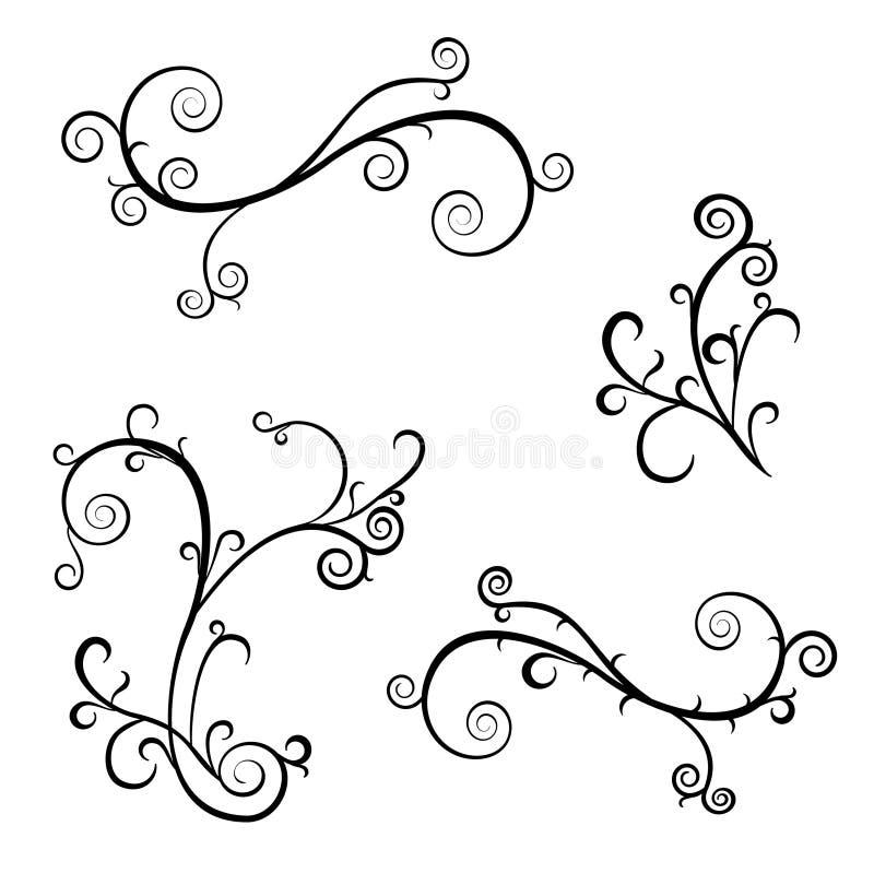 Swirls stock illustration
