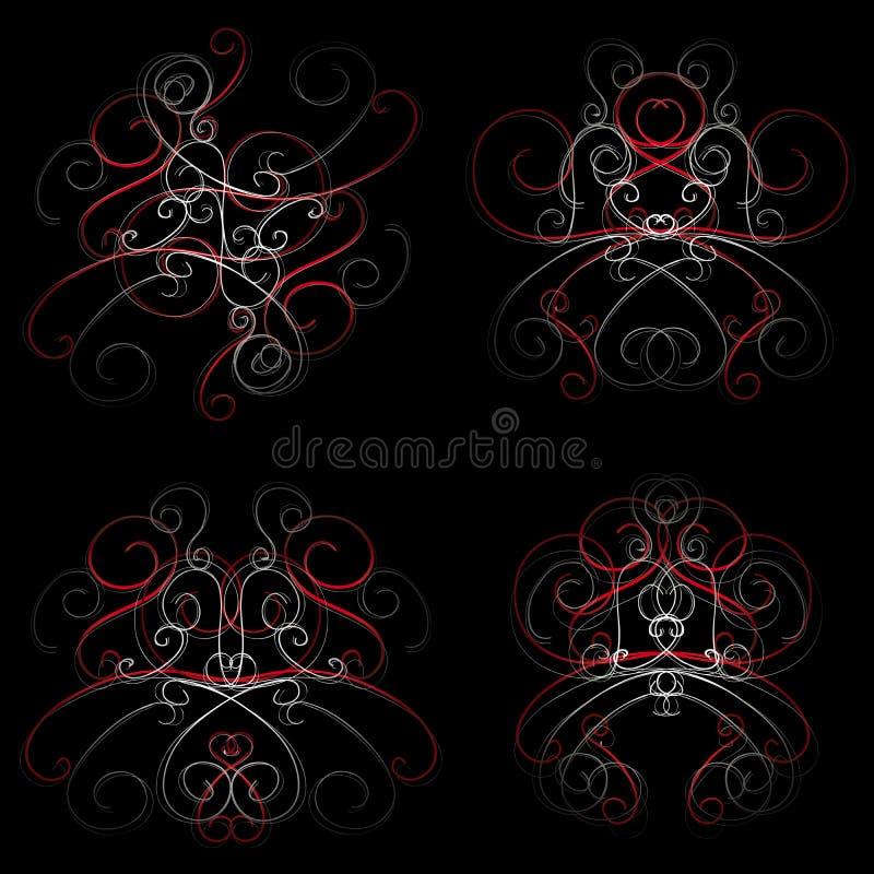 swirls vektor illustrationer