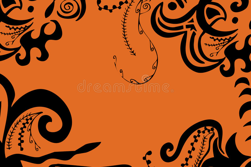 Swirls Border Royalty Free Stock Images