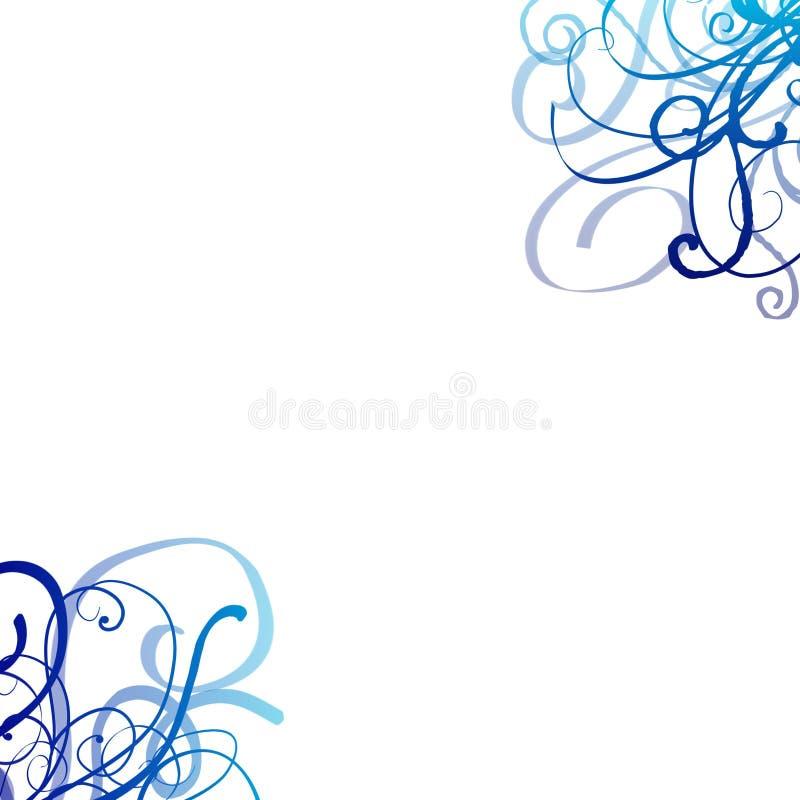 swirls för blå grey för bakgrund arkivbild