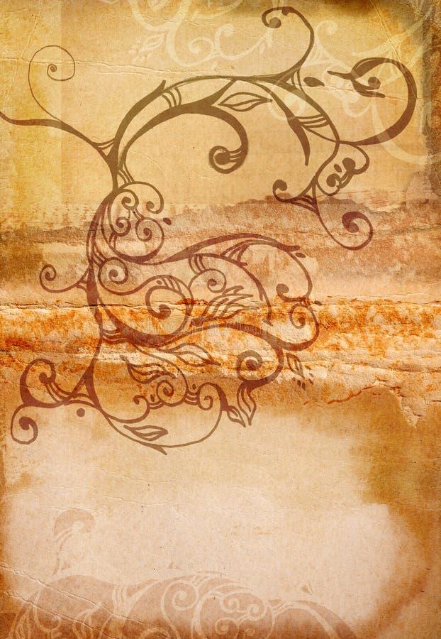 Download Swirls för bokgrungespread stock illustrationer. Illustration av sida - 988472