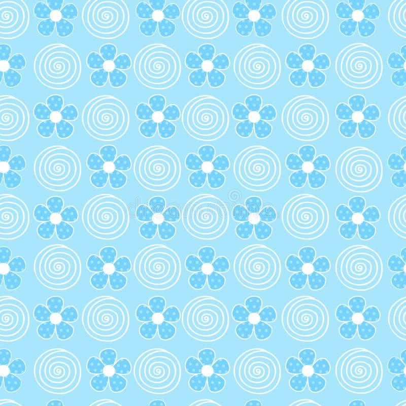swirls för upprepning för adn-blommamodell seamless royaltyfri illustrationer
