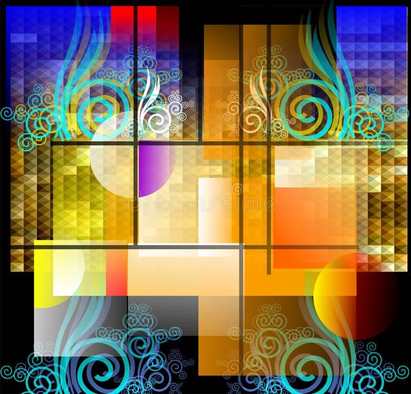 Download Swirls And Foliage Designs Creating Pleasant Feeli Stock Illustration - Image: 22126603