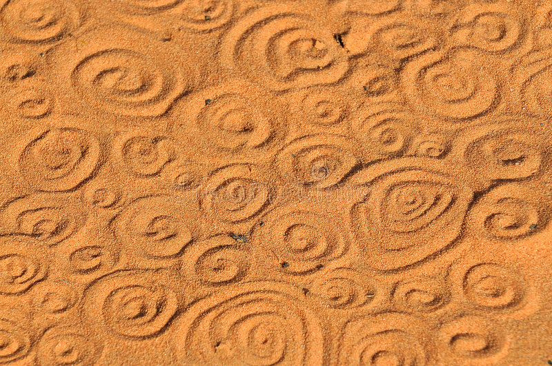 Swirls in the Sand royalty free stock photography