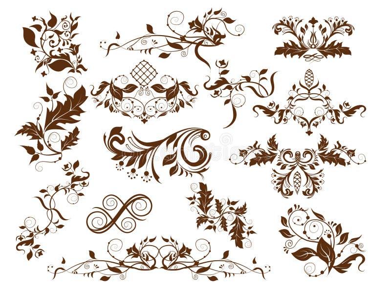 Download Swirls set stock vector. Image of white, illustration - 19583245
