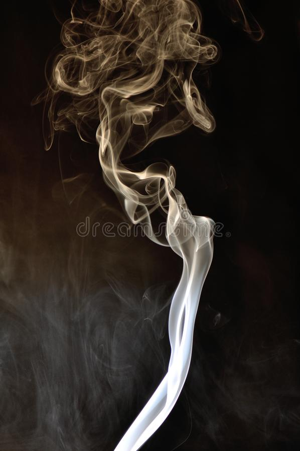 Smoke with dark background royalty free stock photography