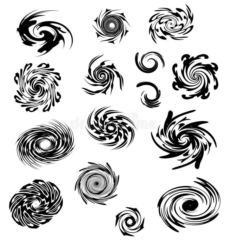 Swirls Spirals and Whirlpools royalty free illustration