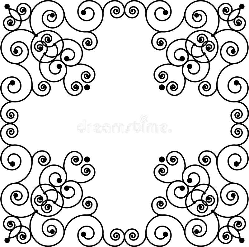 swirly框架 库存图片