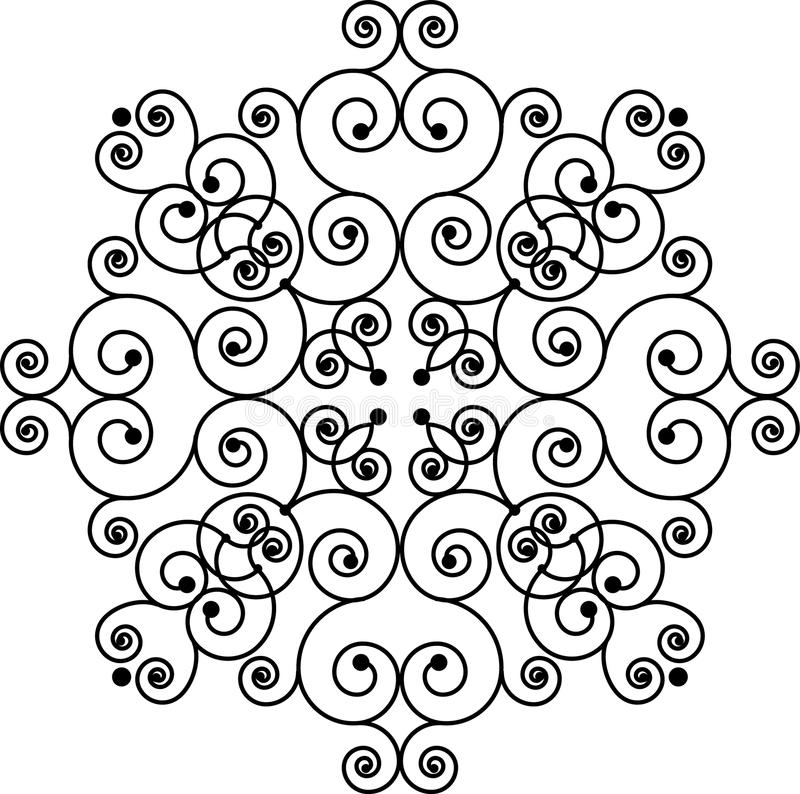 swirly模式 免版税库存图片