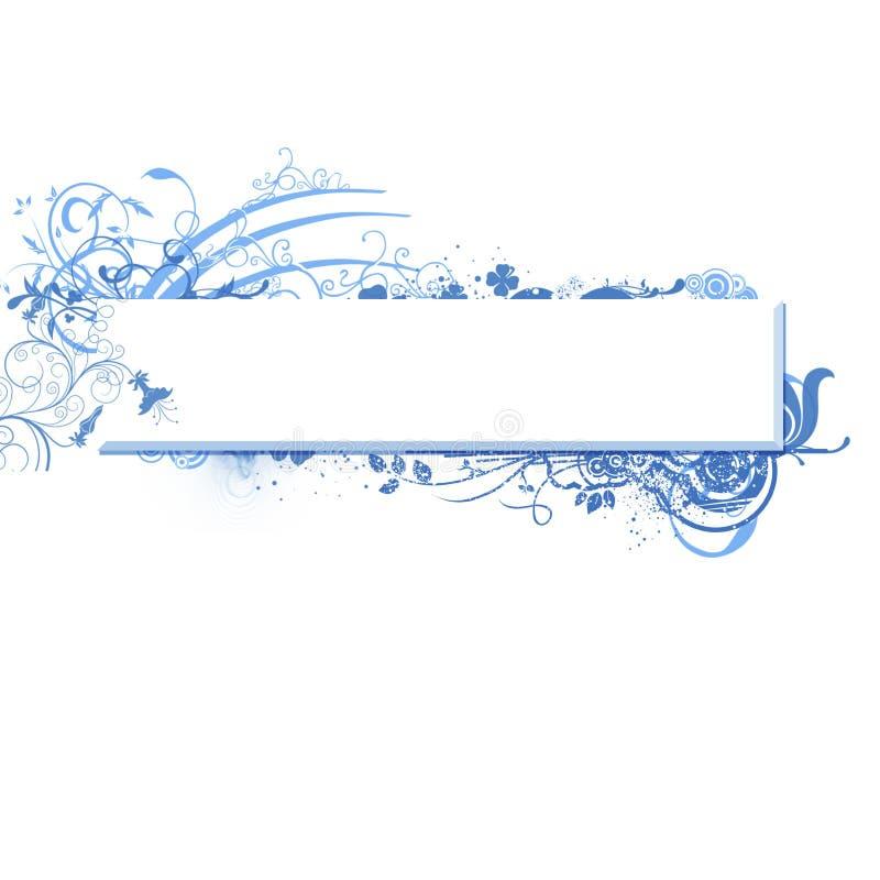 swirly横幅蓝色向量 向量例证