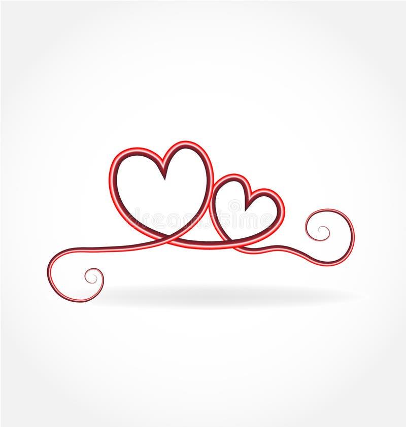 Swirly爱心脏被隔绝的传染媒介 皇族释放例证
