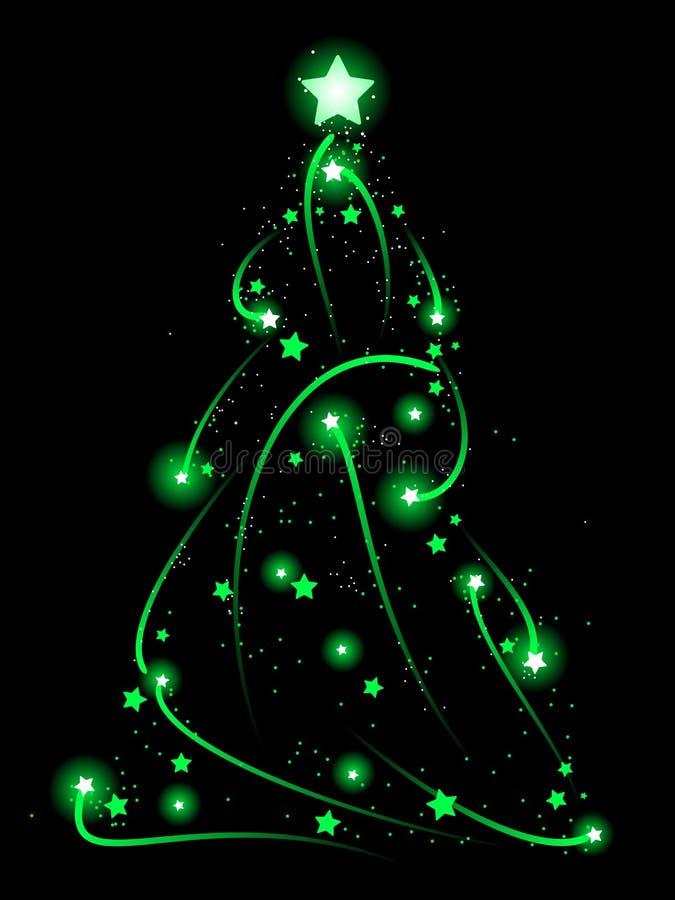 swirly结构树xmas 库存例证