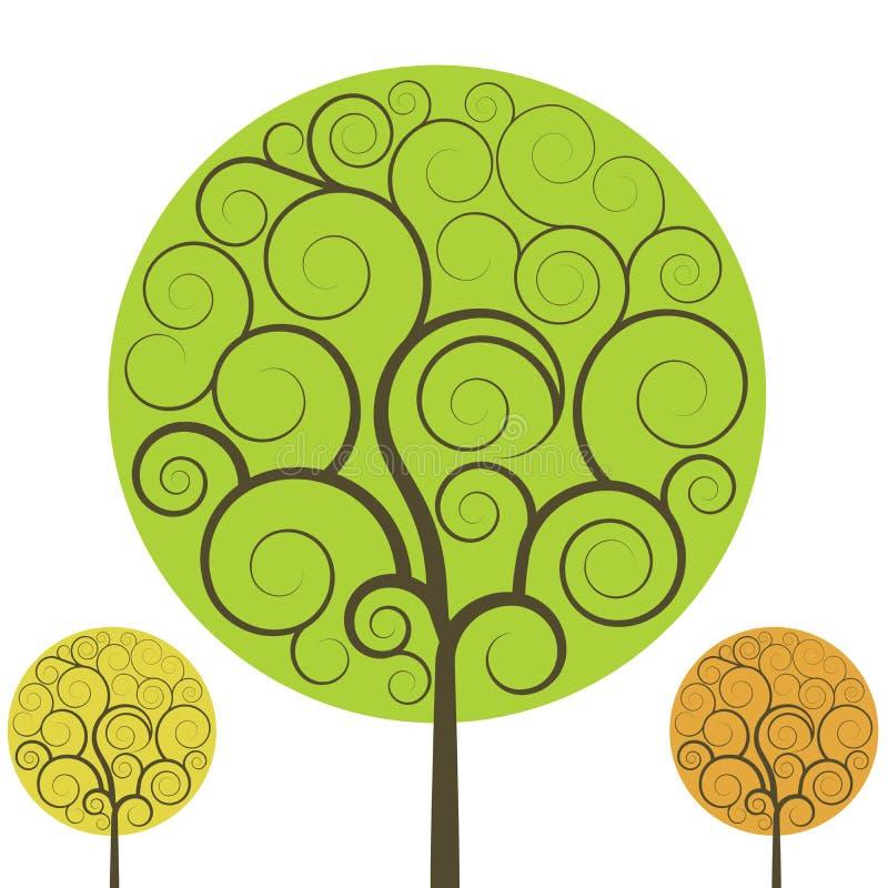 swirly结构树 皇族释放例证