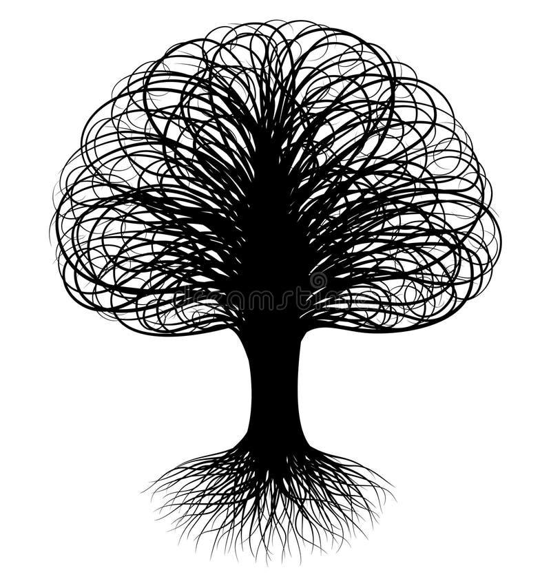 Swirly Baum vektor abbildung