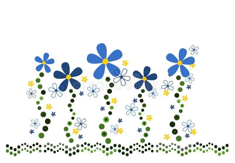 Swirly Blumenauslegung lizenzfreie abbildung