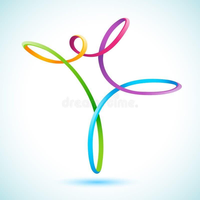 Swirly chiffre coloré illustration de vecteur