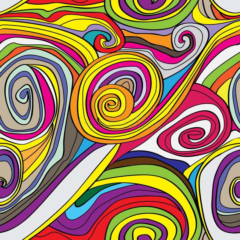 Free Swirly Drawn Seamless Pattern_eps Royalty Free Stock Image - 37965776