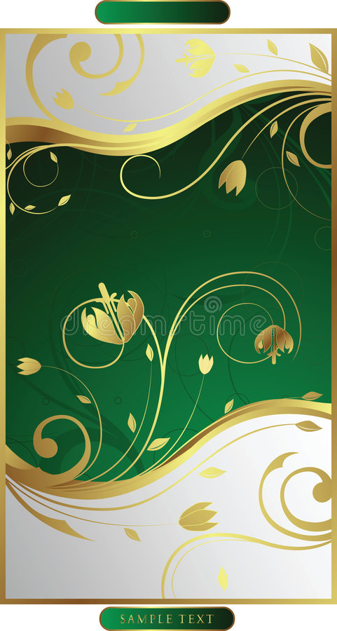 Swirly Floral vector illustration
