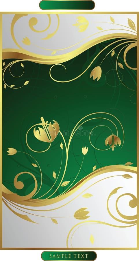 Swirly floral   ilustración del vector