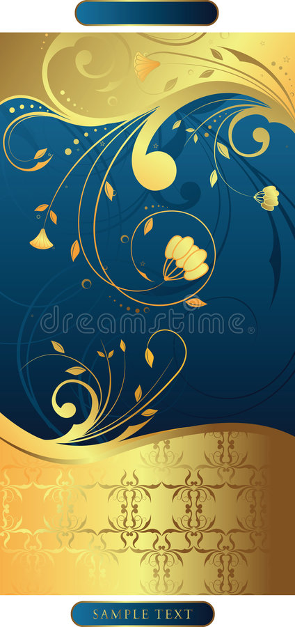 Swirly floral   illustration stock