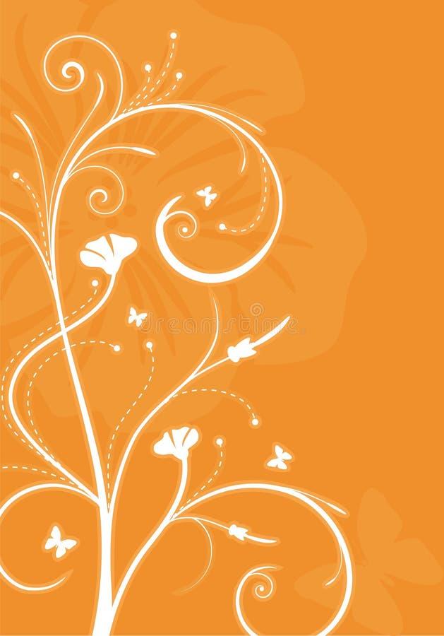 Swirly grüner mit Blumenhintergrund vektor abbildung