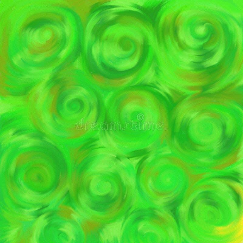 Swirly grass royalty free illustration