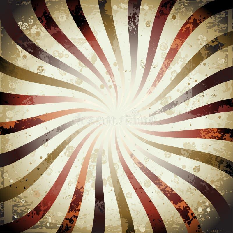 Swirly Grunge Sonnendurchbruch vektor abbildung