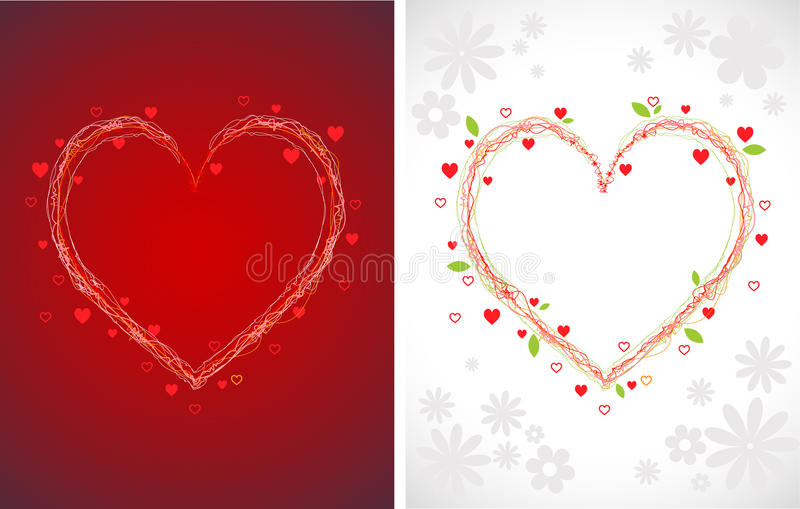 Download Swirly hearts backgrounds stock vector. Image of flower - 12929705