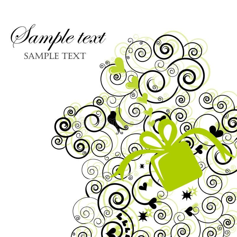 swirly karciany prezent ilustracji