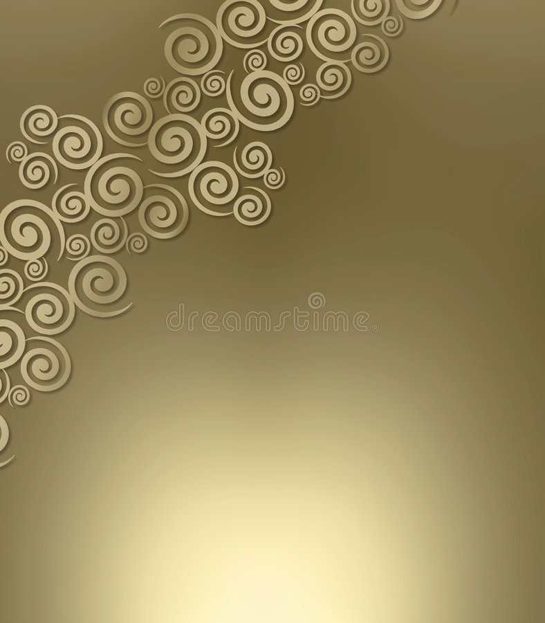 Swirly Metallic Background Stock Image