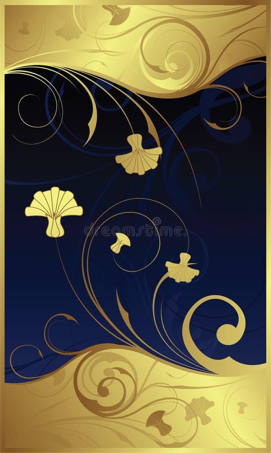 Swirly mit Blumen   lizenzfreie abbildung
