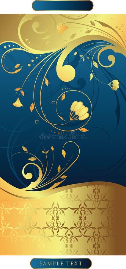 Swirly mit Blumen   stock abbildung