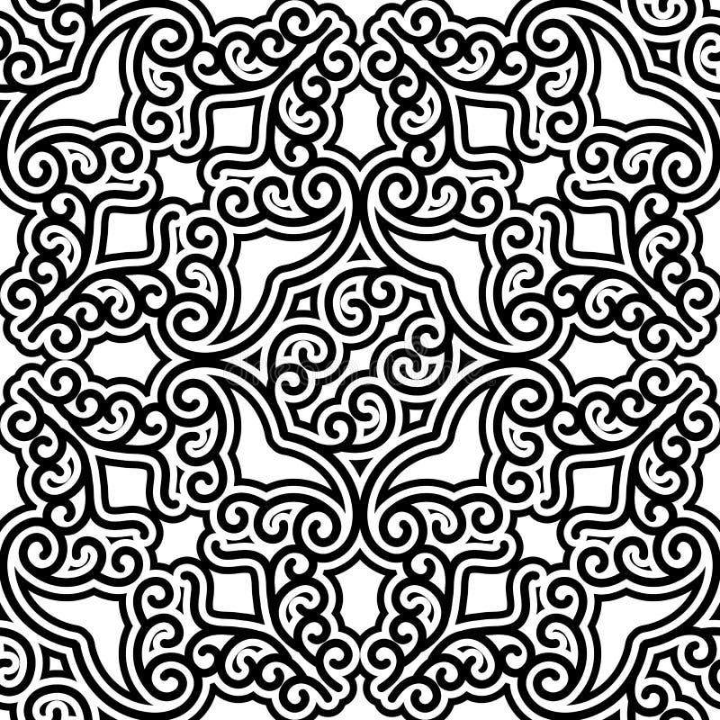 Swirly modèle noir et blanc illustration stock