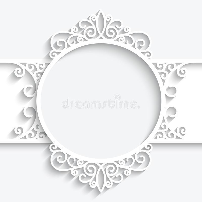 Free Swirly Paper Label Stock Photo - 40197310