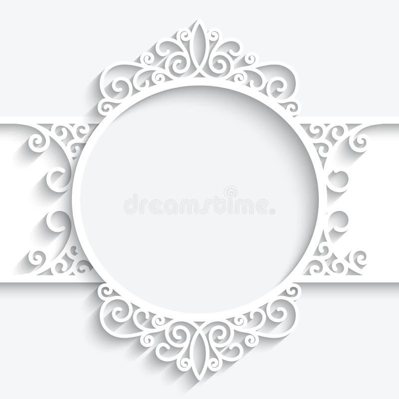 Swirly-Papieraufkleber stock abbildung